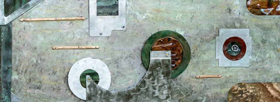 NEW-3D Metal Collage 47,48 – Diptych