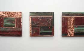3D Metal Collage 36 – Triptych    SOLD